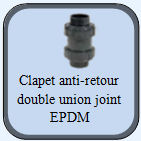 clapet anti retour double union pvc joint epdm. Black Bedroom Furniture Sets. Home Design Ideas